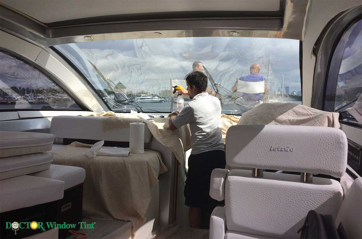 boat window tinting